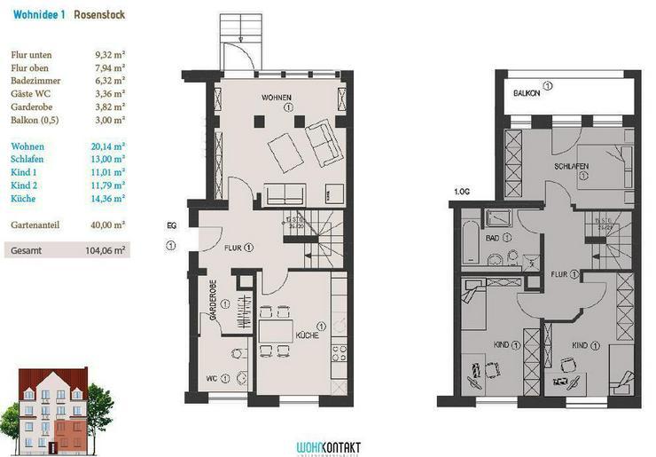 KfW-Effizienzhaus * Ideal für Selbstnutzer * 40m2-Gartenanteil * Balkon * Parkett * Gäst...