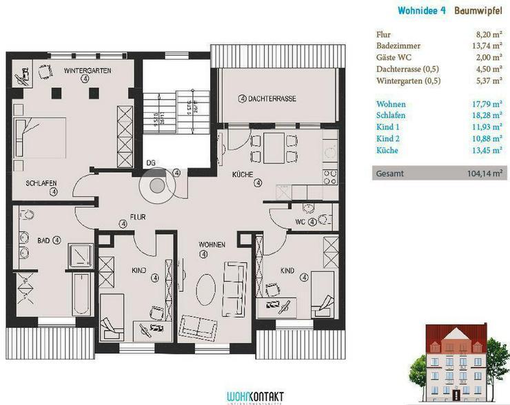 Dachgeschoss * KfW * staatliche Zuschüsse * 4-Zi.-Selbstnutzerwohnung * Dachterrasse + Ba...