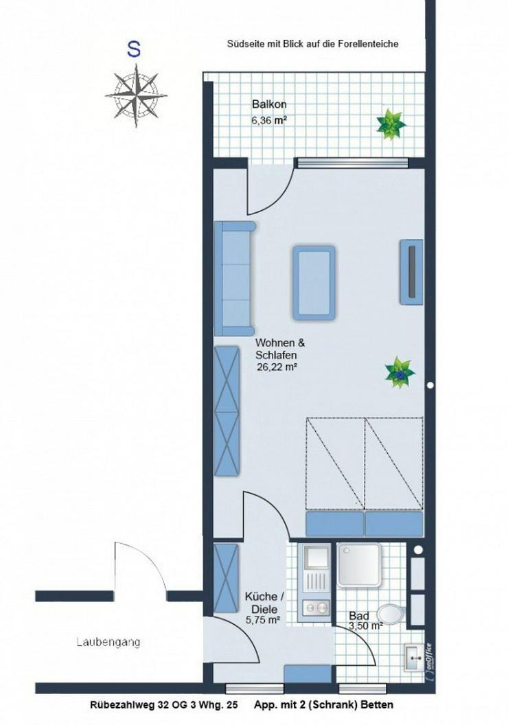 Modernes Singel Apartment im Luft & Kneipkurort Brilon OT zu verkaufen. - Wohnung kaufen - Bild 1