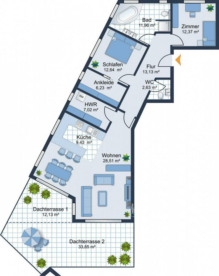 Bild 6: BEREITS 60% VERKAUFT: 3,5-Zimmer-Wohnung im Bau mit Ankleidezimmer und Balkon in Neuffen