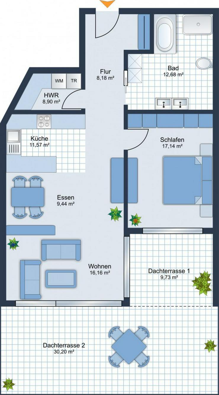 Bild 5: BEREITS 60% VERKAUFT: 2-Zi.-Whg. + Terrasse + Tageslichtbad + Stellplatz -Baubeginn ist er...