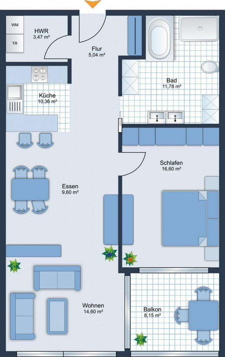 Bild 6: BEREITS 60% VERKAUFT: 2-Zimmer-Wohnung + Balkon + Stellplatz in Neuffen - Baubeginn ist er...