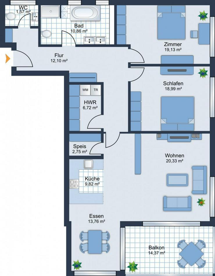 Bild 6: BEREITS 60% VERKAUFT: 3-Zimmerwohnung + Balkon + Stellplatz + Tageslicht-Bad - Baubeginn i...