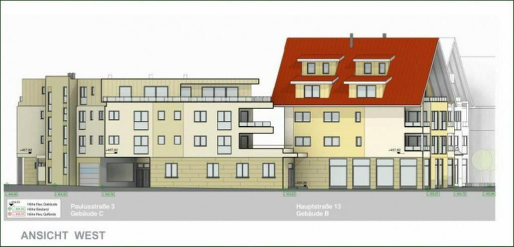 Bild 2: BEREITS 60% VERKAUFT: 3,5-Zi.-Wohnung mit Balkon, Tageslichtbad und TG-Stellplatz - im Bau