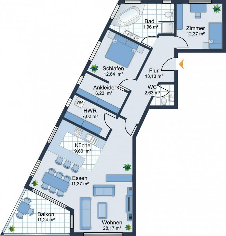 Bild 6: BEREITS 60% VERKAUFT: 3,5-Zi.-Wohnung mit Balkon, Tageslichtbad und TG-Stellplatz - im Bau