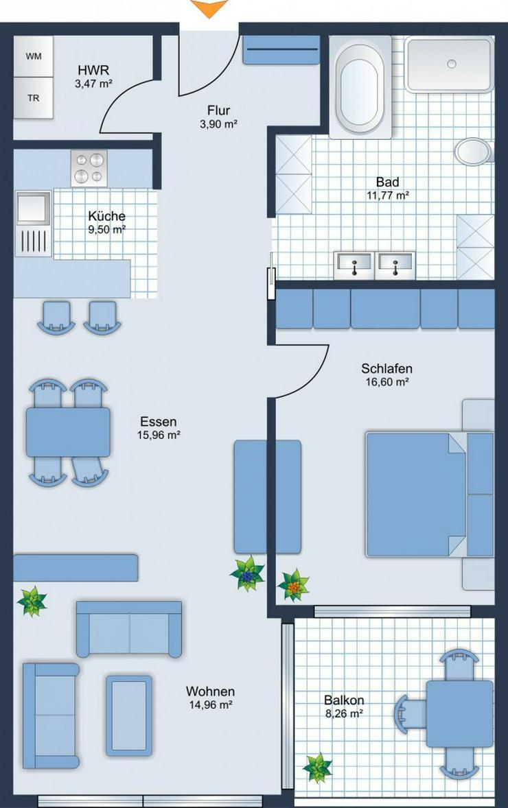 Bild 6: BEREITS 60% VERKAUF: 2-Zimmer-Wohnung mit Balkon + TG-Stellplatz - Baubeginn ist erfolgt!