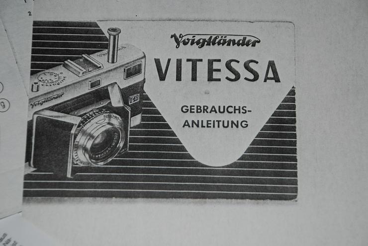Voigtländer Vitessa - Bedienungsanleitung
