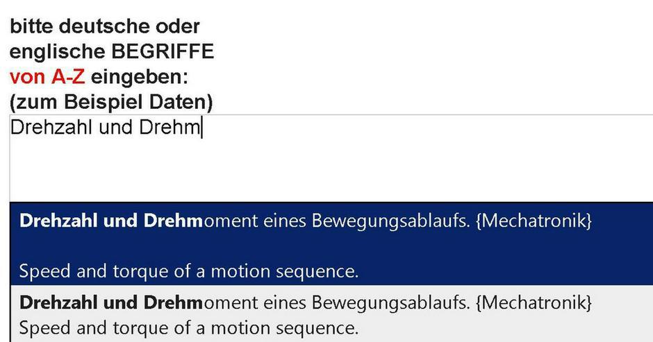 Rezension: de-englisch Uebersetzer Mechatronik