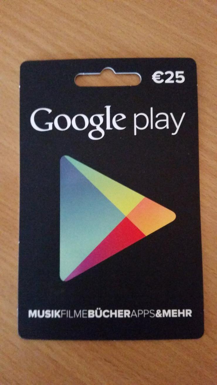 Tausche Google Play Karte mit 25 € Guthabe - Weitere - Bild 1