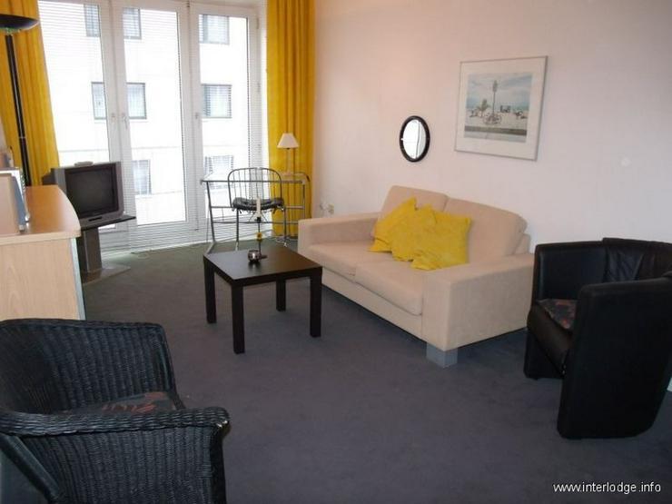 INTERLODGE Modern möblierte Etagenwohnung mit Balkon in bester Lage in Düsseldorf-Düsse... - Wohnen auf Zeit - Bild 1