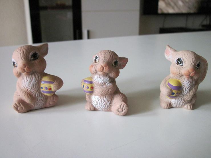 Niedliche 3 Teilige Hasensammlung Porzellan - Figuren - Bild 1