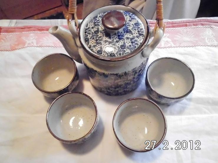 Teeservice mit 4 Bechern