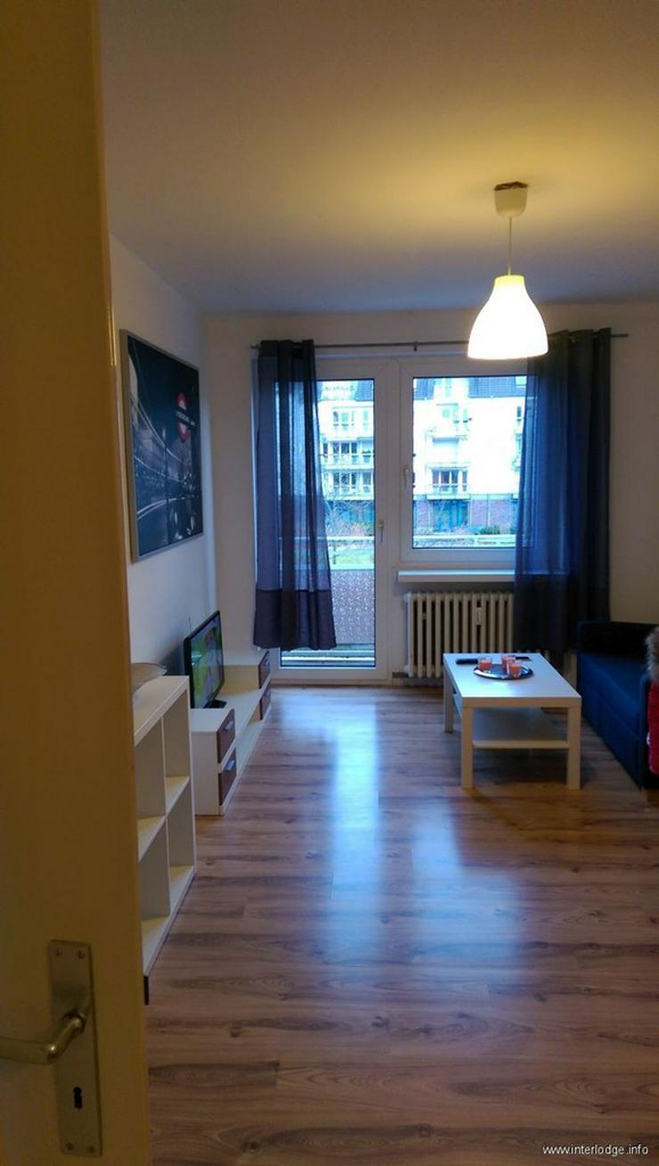 INTERLODGE Komplett möbliertes City-Apartment mit Balkon in Essen Innenstadt Süd.