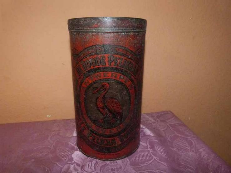 Antike Kaffeedose Le Pelican Rouge / Blechdose