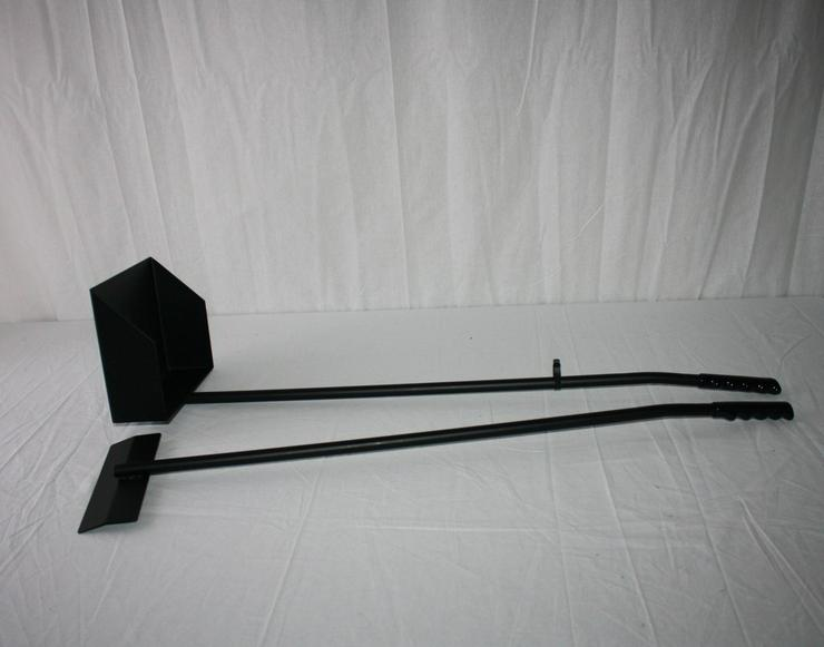 Kotschaufel / Kotkratzer Metall schwarz