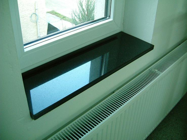 Fensterbänke Granit Nero Assoluto poliert