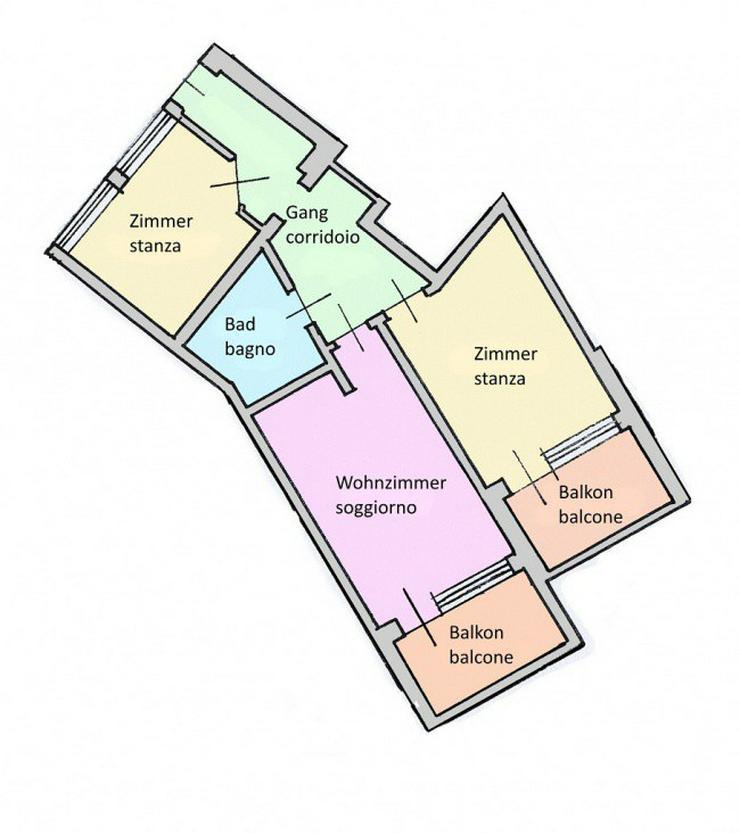 Sonnige 3-ZI Wohnung mit Panoramablick - Wohnung kaufen - Bild 1