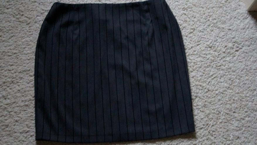 Stylischer Minirock, Grau-schwarz, Gr. 40