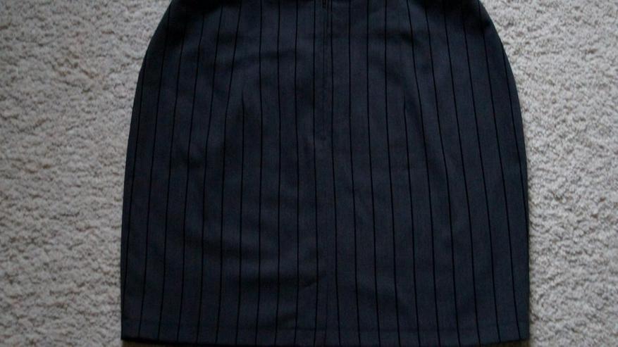 Bild 3: Stylischer Minirock, Grau-schwarz, Gr. 40