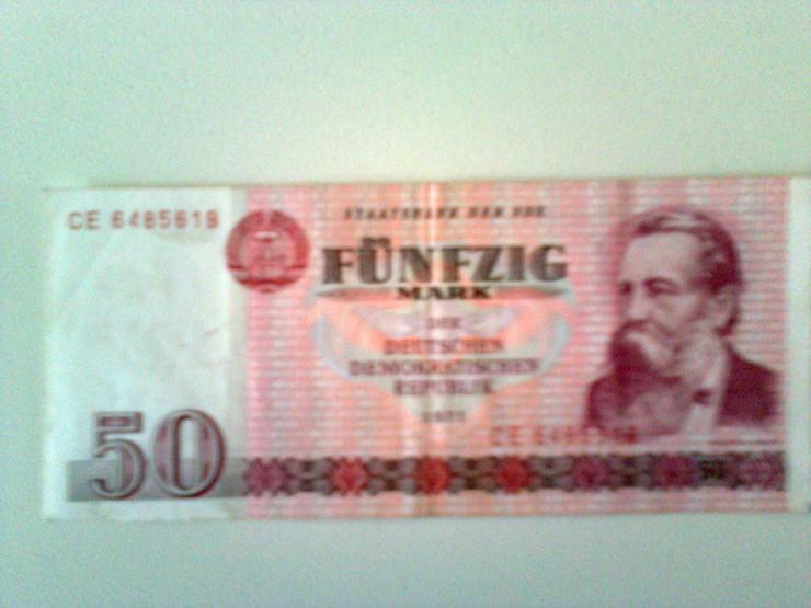 Geldschein Fünfzig Mark 1971