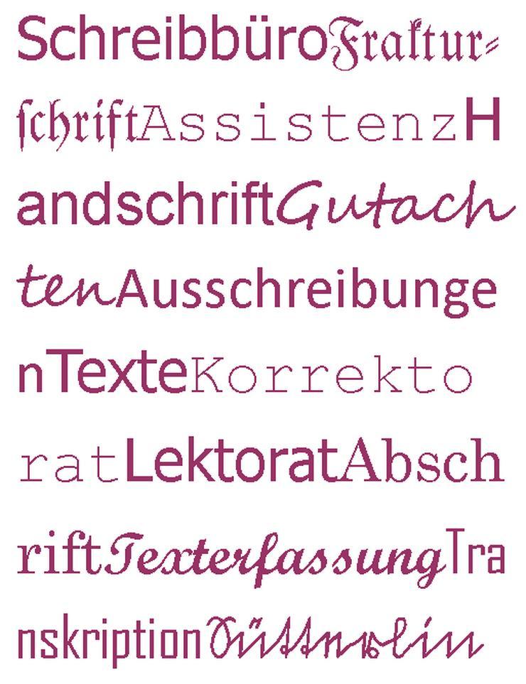 Schreibbüro, Schreibservice, Texterfassung, Transkription