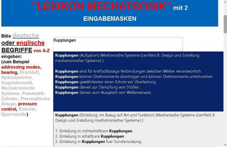 Kupplungen: Lexikon Mechatroniker Lernfeld 8