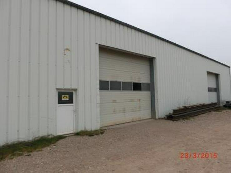 Bild 2: Isolierte Lagerhalle mit 6 Rolltoren und Industrieboden, LKW-Zufahrt