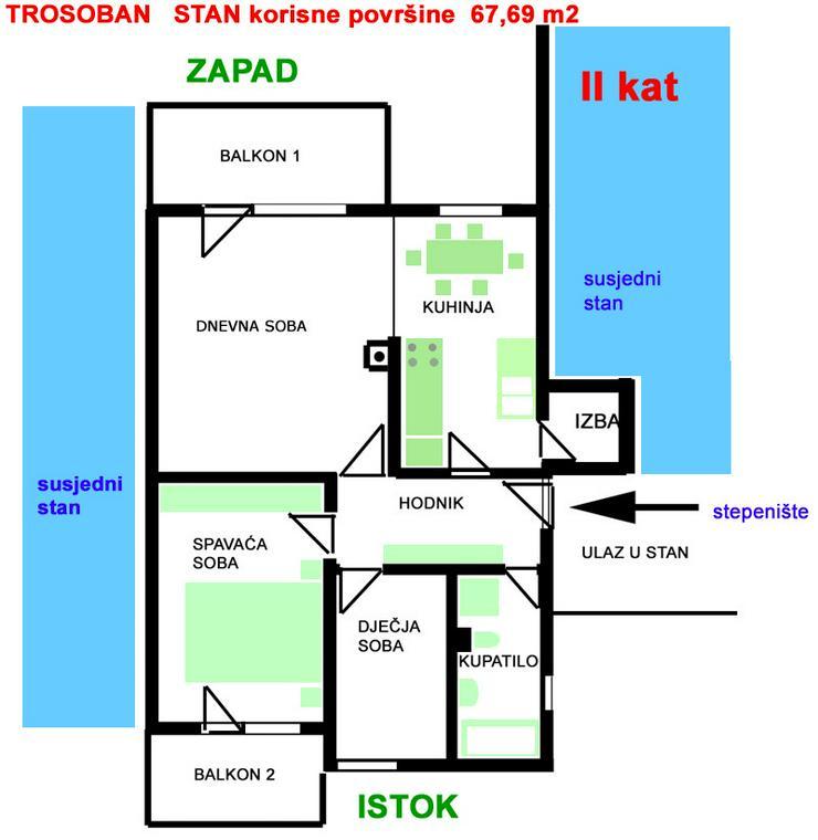 KROATIEN - VINKOVCI  - Eigentumswohnung 67m2