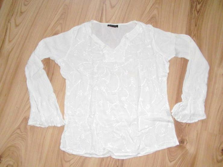 Weiße Damen Bluse in Größe 34