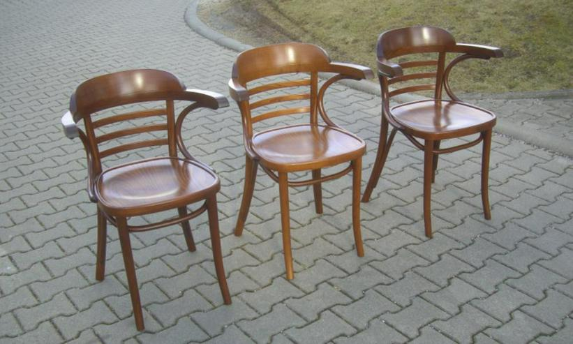 Bild 2: Bugholz-Armlehnstuhl Wiener Halbsessel