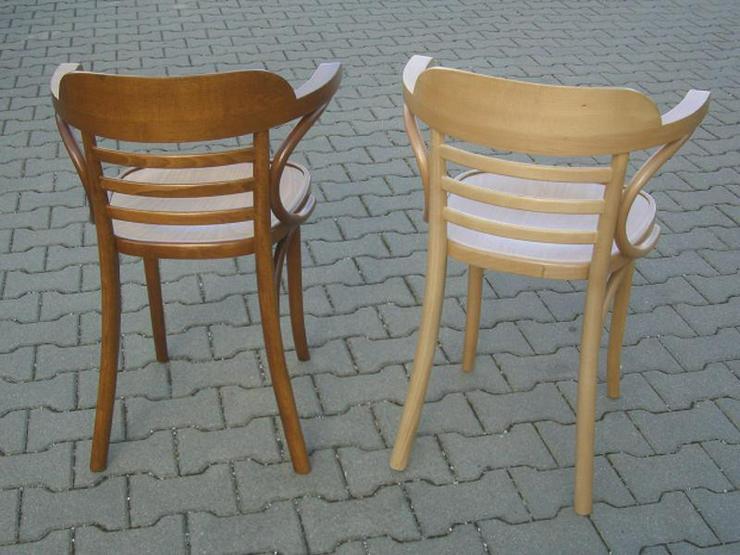 Bild 3: Bugholz-Armlehnstuhl Wiener Halbsessel