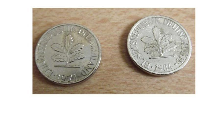 1 Pfennig versilbert 2 Stück - Deutsche Mark - Bild 2