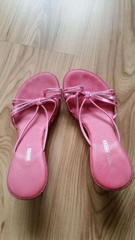 Bild 3: Pinke hohe Mädchen Sandalen in Größe 36