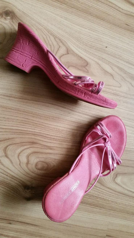 Bild 2: Pinke hohe Mädchen Sandalen in Größe 36