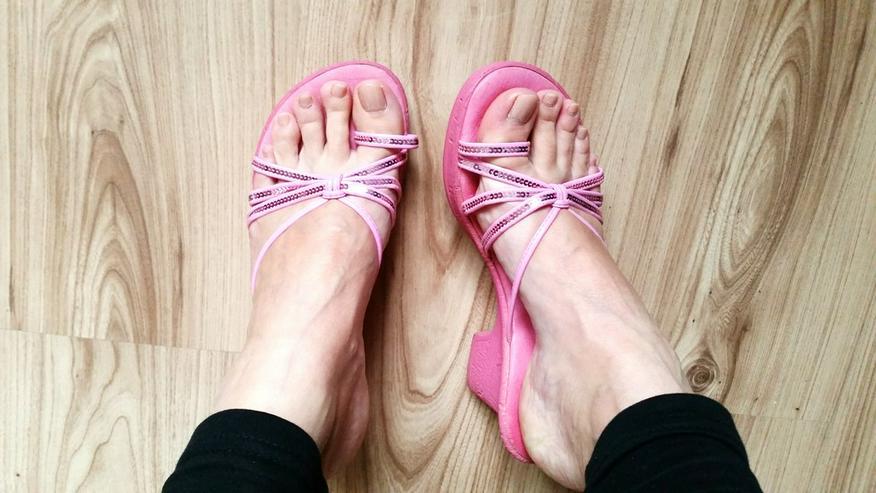 Pinke hohe Mädchen Sandalen in Größe 36