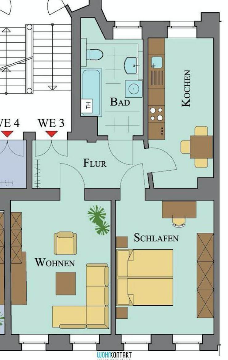 * Den Park direkt vor der Haustür: Schöne 2-RW in ansprechender und ruhiger Lage * - Wohnung mieten - Bild 1