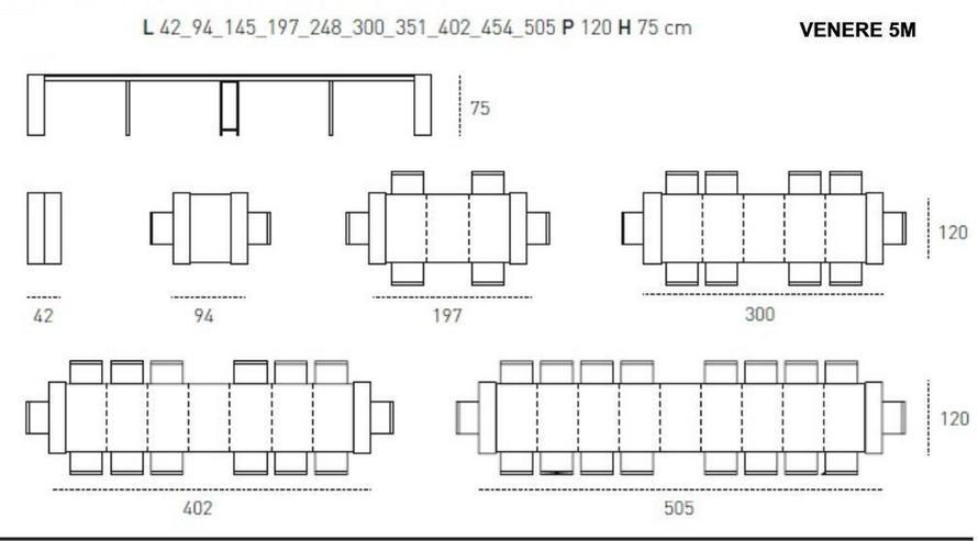 Bild 6: Super-Kulissen-Esstisch VENERE 5M