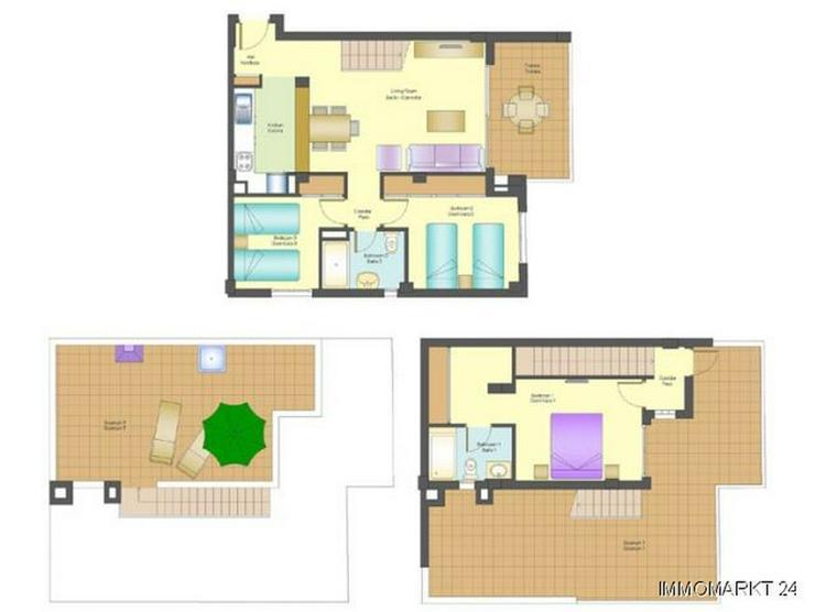 Bild 5: Maisonette-Wohnungen mit Meerblick