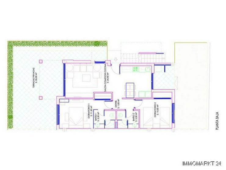 Bild 4: 2-Schlafzimmer-Erdgeschosswohnungen mit Gemeinschaftspool und Spa