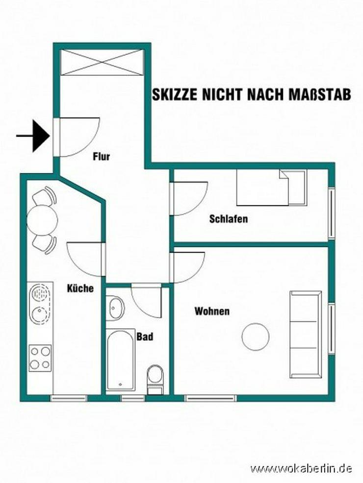 Bild 2: Kapitalanlage oder Selbstbezug +++ sonnige, charmante 1,5-Zimmer-Wohnung in Berlin-Adlersh...