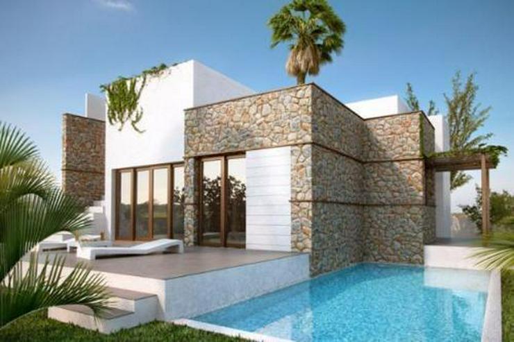 Moderne und komfortable 3-Zimmer-Villen mit Natursteinelementen