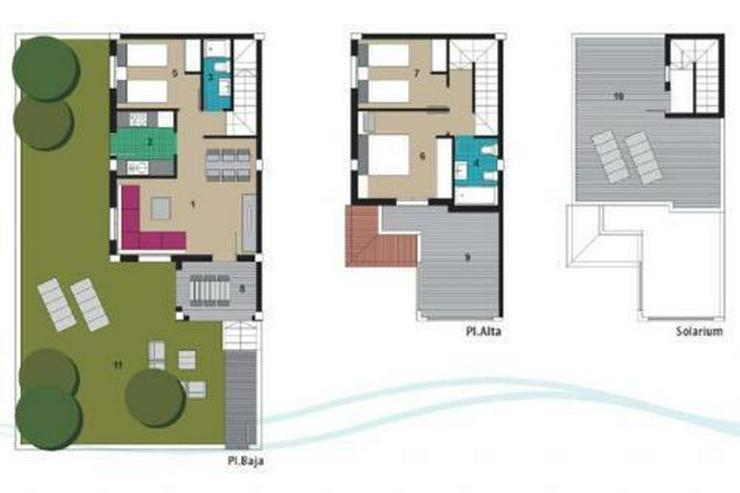 Bild 11: Quattrohäuser mit Gemeinschaftspool