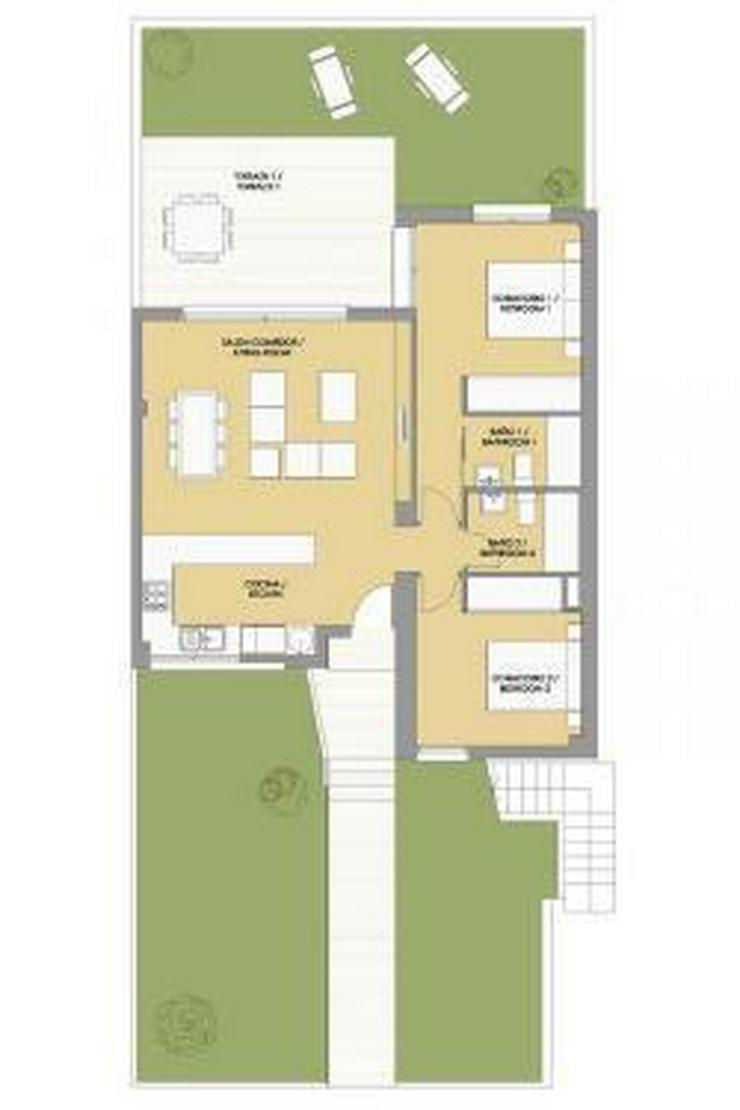 Bild 6: Komfortable Erdgeschoss-Wohnungen neben Golfanlage