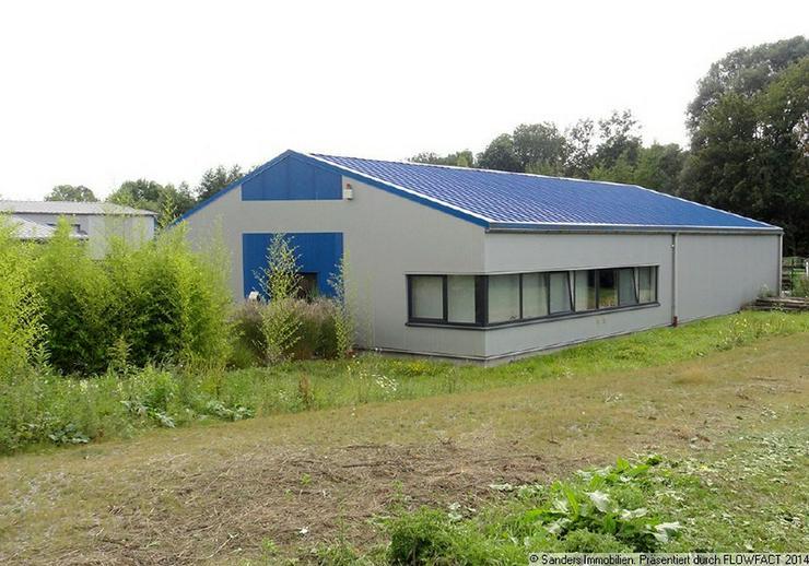 Bild 1: Ansprechende Gewerbehalle mit Bürotrakt in Recklinghausen-Berghausen - Gewerbepark Ortloh