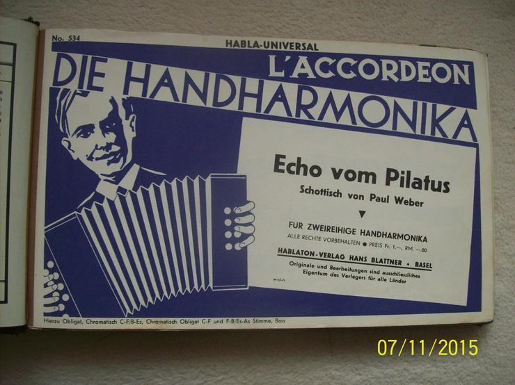 Volksmusik-Noten für 2-3 reih. Handharmonika - Bild 1