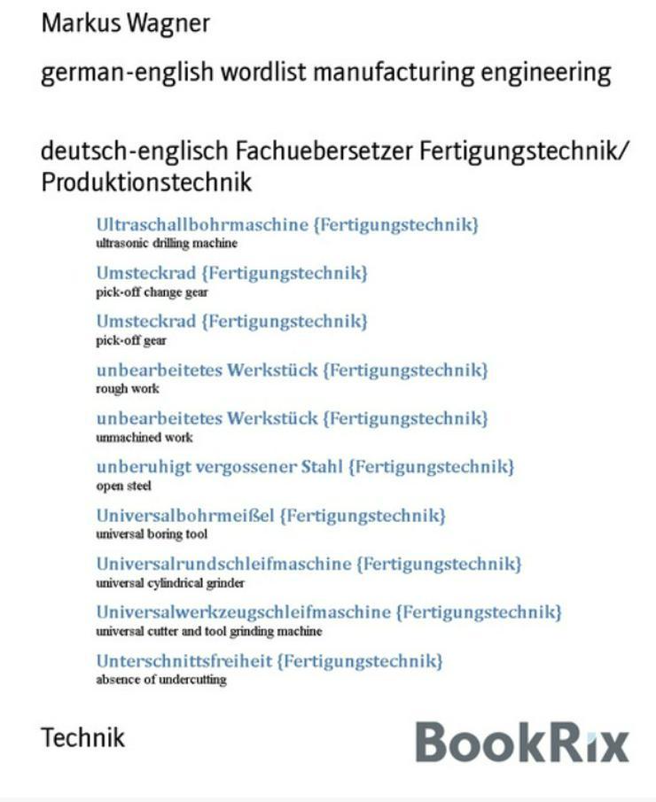 epub german wordlist manufacturing engineering