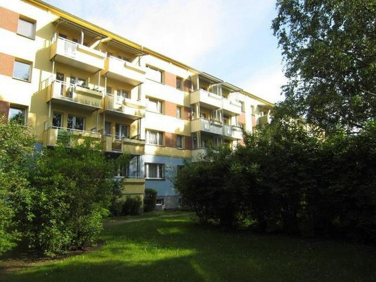 Schöne sanierte 2-Raumwohnung mit Balkon im 4. Stock, viel Grün und sehr ruhig.