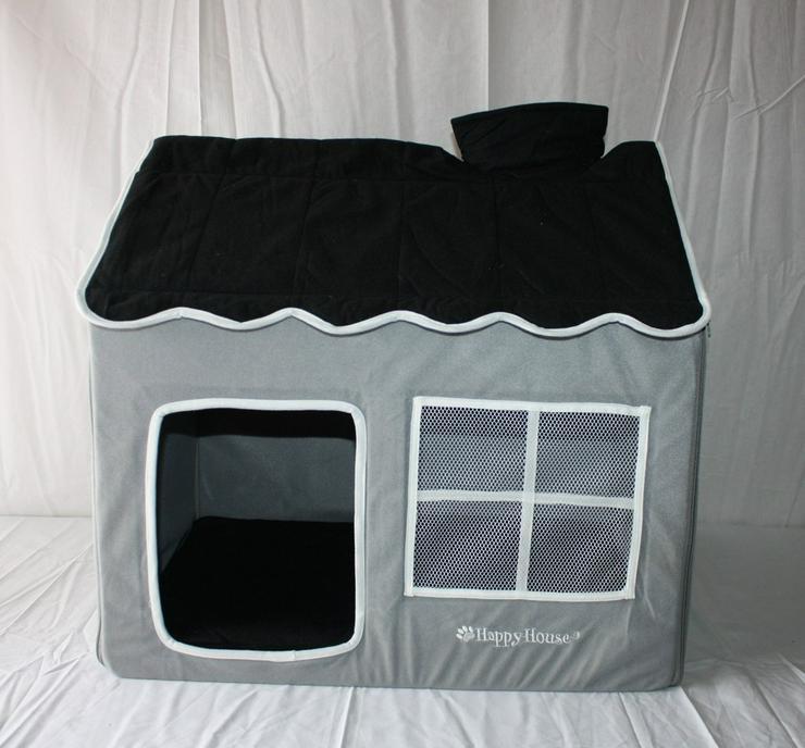 Hundehütte / Hundehaus House Design grau