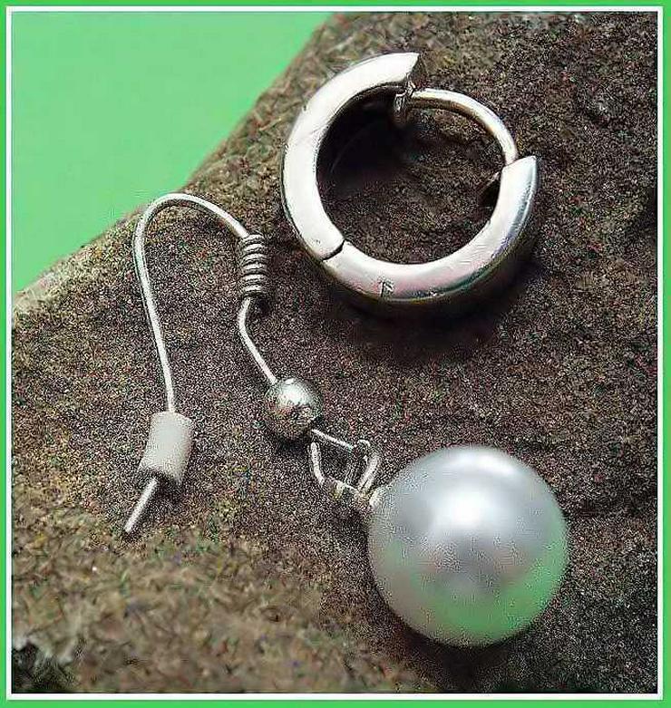 1x CREOLE - Klappcreole + 1x Perlen Ohrring