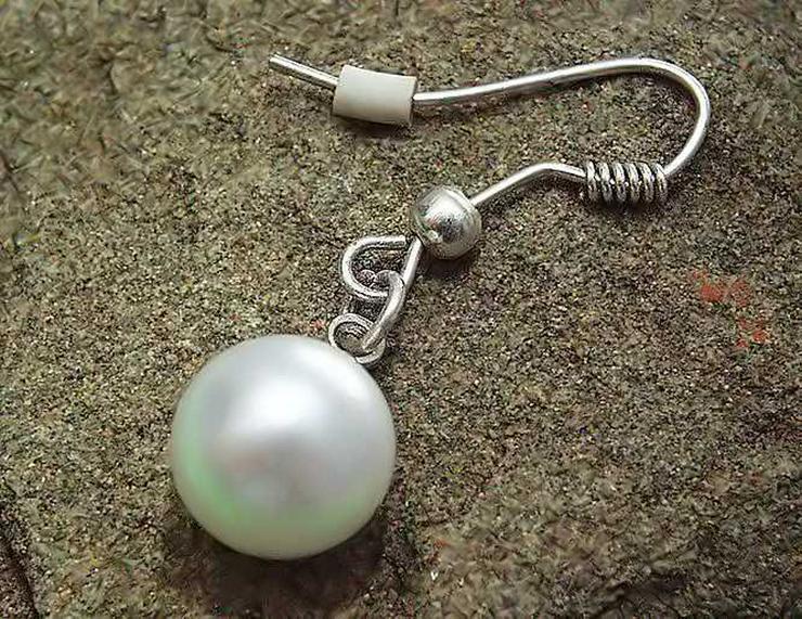 Bild 3: 1x CREOLE - Klappcreole + 1x Perlen Ohrring